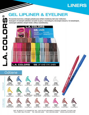 L.A. Colors Gelová tužka na rty Gel Lipliner